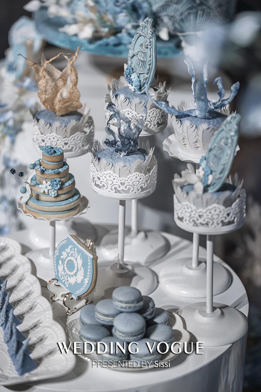 国际资讯_蓝色甜品台 - 婚礼甜品 - 婚礼图片 - 婚礼风尚
